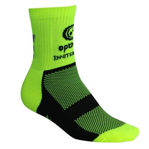 Optimum Nitebrite Fahrradsocken für Herren, Winter, hohe Sichtbarkeit grün leuchtend grün Size 7-11
