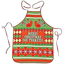 Ugly Sweater Party Apron - Merry Christmas you turkeys!
