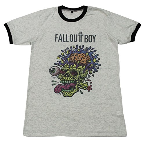 [Fall Out Boy skull indie pop punk rock band T-Shirt / GV161.4 size L] (Mens Disco Jumpsuit)