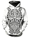 Product review for Chiclook Cool Unisex Animal Owl Artwork Hoodie Funny Tracksuit Streetwear