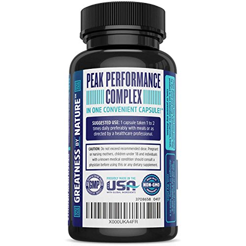 Premium Brain Function Support - Memory Focus amp Clarity Formula - Nootropic Scientifically Formulated for Optimal Performance - DMAE Rhodiola Rosea Bacopa Monnieri Ginkgo Biloba amp More Discount