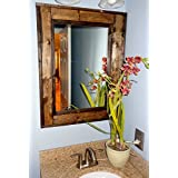 rustic bathroom mirrors. Renewed D cor Herringbone Reclaimed Wood Bathroom Vanity Mirror in 20 stain  colors Large Wall Rustic Modern Home Decor Amazon com Country Mirrors Handmade Products