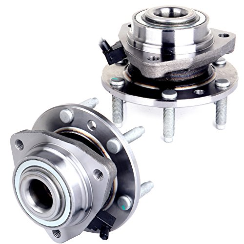 (SCITOO 513188 X 2 New (Both) Front Wheel Hub and Bearing Assembly fit Ascender, Bravada, Envoy, Rainer, Trailblazer 6 Lug)