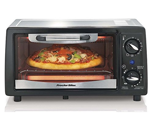 Proctor Silex 4-Slice Electric Counter-Top Toaster Oven with Timer   31140 (Energy Saver Toaster Oven compare prices)