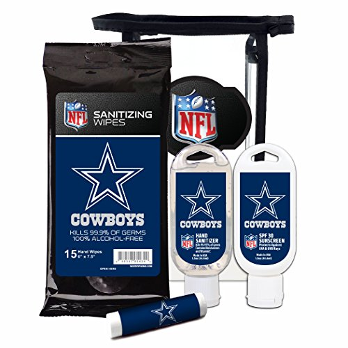 Worthy Promotional NFL Dallas Cowboys 4-Piece Premium Gift Set with SPF 15 Lip Balm, Sanitizer, Wipes, Sunscreen]()