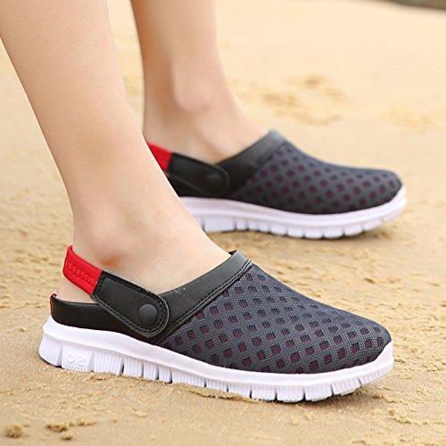 estate Nuovo prodotto Uomini Spiaggia Buco scarpa Coppia sandali Taglia larga Tempo libero sandali Coppia tendenza sandali Uomini ,rosso,US=9.5,UK=9,EU=43 1/3,CN=45
