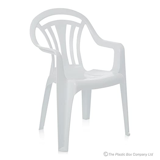 White Plastic Chairs (pack Of 4)