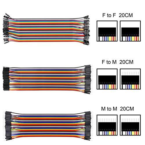 1 PC 20 cm C/âble de liaison Dupont C/âble Dupont Ligne Pour Arduino F//FF//MM//M Multicolore