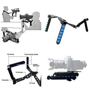 Koolertron DSLR Rig Shoulder Mount for DV Camera Sony Canon 5D 7D And So On