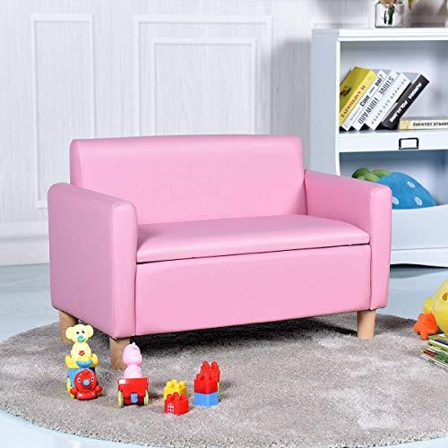 COSTWAY Sofá para Niños 80x41x53cm Infantil Muebles con ...