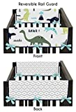 Sweet Jojo Designs 2-Piece Blue and Green Modern Dinosaur Teething Protector Cover Wrap Baby Crib Side Rail Guards