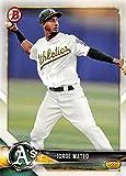 2018 Bowman Baseball Prospects #BP95 Jorge Mateo Athletics