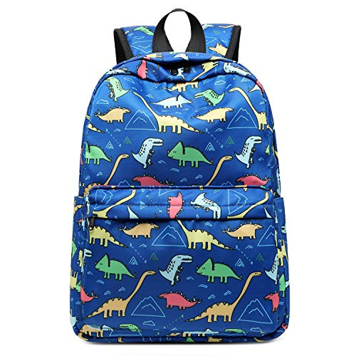 CAMTOP Preschool Backpack for Kids Boys Toddler Backpack Kindergarten School Bookbags (Cute Dinosaur-Dark Blue)