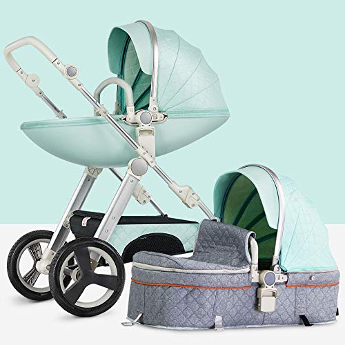 WY-Tong Prams Baby Pushchairs Can Sit and Fold, Fold Light, High Landscape, Two-Way Child Baby Strolle