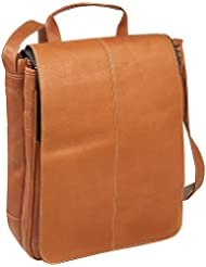 Le Donne Leather Computer Messenger (Tan)