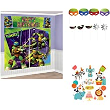 Teenage Mutant Ninja Turtles Premium Photo Booth Fun Props Kit Birthday Party Supplies