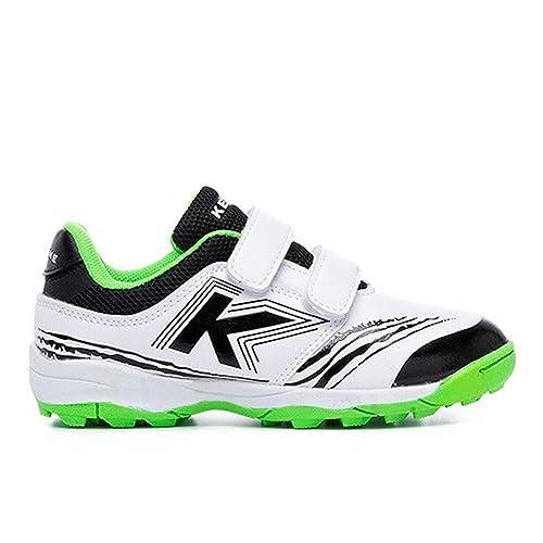 Kelme - Zapatillas de fútbol Sala de Sintético para niño Blanco Bianco: Amazon.es: Zapatos y complementos