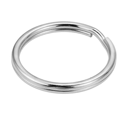 Scuba Choice Diving 38mm Stainless Steel 0.23mm Split Ring for BCD Attachment 10-Piece Pack