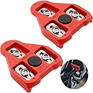 Legdro Bike Pedal Cleats 1 Pair, Cycling Bike Cleats Compatible with Look Delta 9 Degree Float - Fit for Indoo