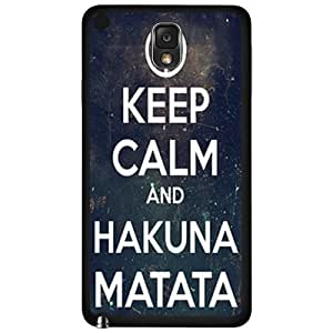 Keep Calm Hakuna Matata Hard Snap on Phone Case (Note 3 III)
