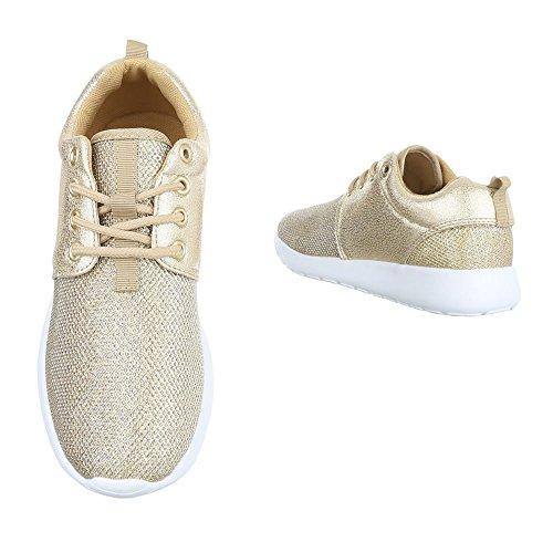 KK Gold para Sintético 59 Zapatillas Material Design de Ital mujer 086Tq6
