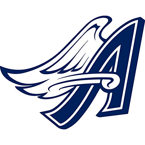 MLB LOS ANGELES ANGELS OF ANAHEIM LOGO 4 (NAVY BLUE) (SET OF 2) PREMIUM WATERPROOF VINYL DECAL STICKERS FOR LAPTOP PHONE ACCESSORY HELMET CAR WINDOW BUMPER MUG TUBER CUP DOOR WALL DECORATION