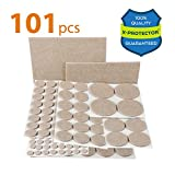 Best Chair Pads for Hardwood Floors X-PROTECTOR Premium CLASSIC Pack Furniture Pads 101 piece! Furniture Feet Felt Pads – Your Best Value Pack Wood Floor Protectors. Protect Your Hardwood & Laminate Flooring with 100% Satisfaction!