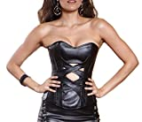 d gray man lenalee cosplay - Musiclovely sexy Women's Amazing Leather Overbust Corset Small Black