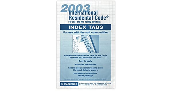 2003 International Residential Code Turbo Tabs: Irc: 9781933345086: Amazon.com: Books