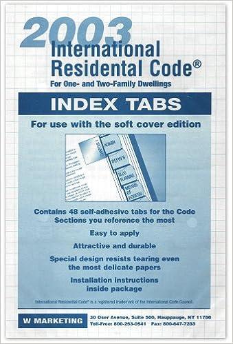 2003 International Residential Code Turbo Tabs Irc