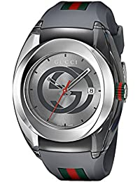 d1598ca87cbd3 Swiss Quartz Stainless Steel and Rubber Casual Grey Men s Watch(Model   YA137109) · Gucci