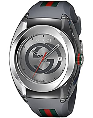 Swiss Quartz Stainless Steel and Rubber Casual Grey Men's Watch(Model: YA137109)