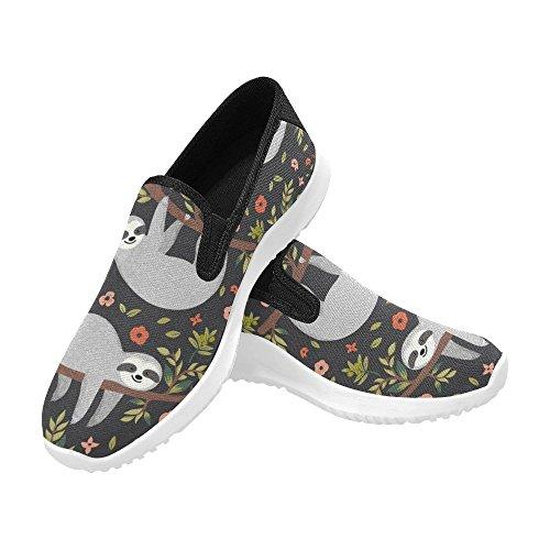 InterestPrint Womens Slip-On Loafer Shoes Canvas Fashion Sneakers Multi 14 6h8TWvtV