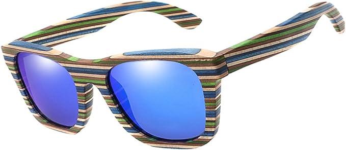 Sommermode Bambus Sonnenbrille Holz Herren Damen Retro Vintage Brillen Neu