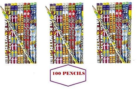 Amazon 100 religious pencils easter basket fillers egg 100 religious pencils easter basket fillers egg hunt prize christmas stocking negle Choice Image