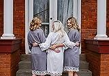 Personalized Bridesmaids Robes/Bridal robe/Gift bridal robe/Bridesmaids Gift/Cotton Lace Robe