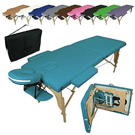 10 coloris Accessoires et housse de transport Norme CE Vivezen /® Table de massage pliante 2 zones en bois avec panneau Reiki