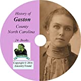 GASTON County, North Carolina - History & Genealogy - 24 Books on CD - Gastonia