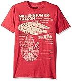 Best Men Movies - STAR WARS Men's Millennium Falcon Detailed Drawing T-Shirt Review