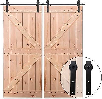 365CM/12FT Puerta de granero corredera estilo rústico puerta de ...