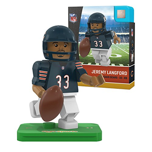 OYO NFL Chicago Bears Gen4 Limited Edition Jeremy Langford Mini Figure, Small, White