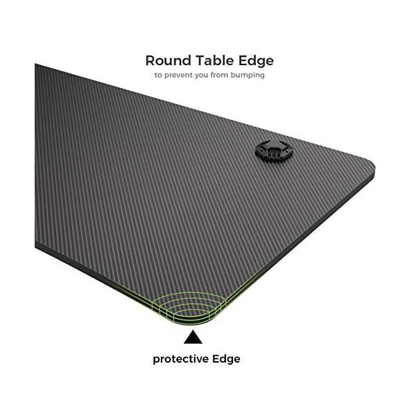 EUREKA ERGONOMIC Bureau Gaming P47 Bureau Gamer Bureau d'ordinateur Gaming PC Table Desk avec Tapis Souris Câble…