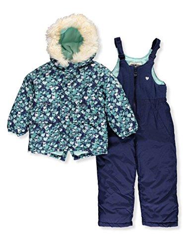 Osh Kosh Little Girl's Navy Girls Hw Snowsuit B2179s15 Outerwear, Navy, 6X