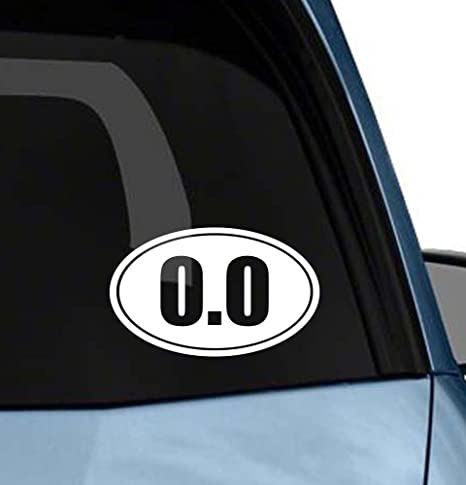 Euro 0.0 Sports Running Marathon Graphic Decal Sticker Car Oval NOT Two Colors