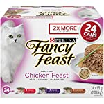 Purina Fancy Feast Chicken Feast Wet Cat Food Variety Pack - 85 g (24 Pack)
