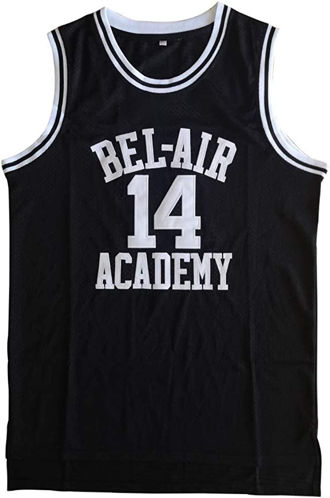 Smith Basketball Jersey #14 Bel Air Academy Stitched Men's Sport Jersey Black S-XXXL