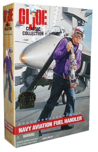 G.I. Joe Limited Edition Classic Collection 1997 Limited Edition 12 Inch Tall Figure - Navy Aviation Fuel Handler with Cap, Helmet, Float Coat, Shirt, Trousers, Boots, Ground Cable, Clasp, Dog Tags, Goggles and M-16 Rifle (Caucasian Version)