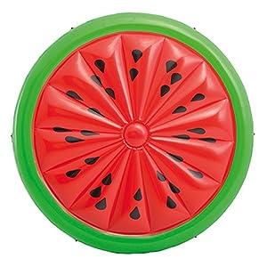 Intex 56283EU Materasso Gonfiabile a Forma di Anguria, Rosso/Verde, 183 x 23 cm 9 spesavip