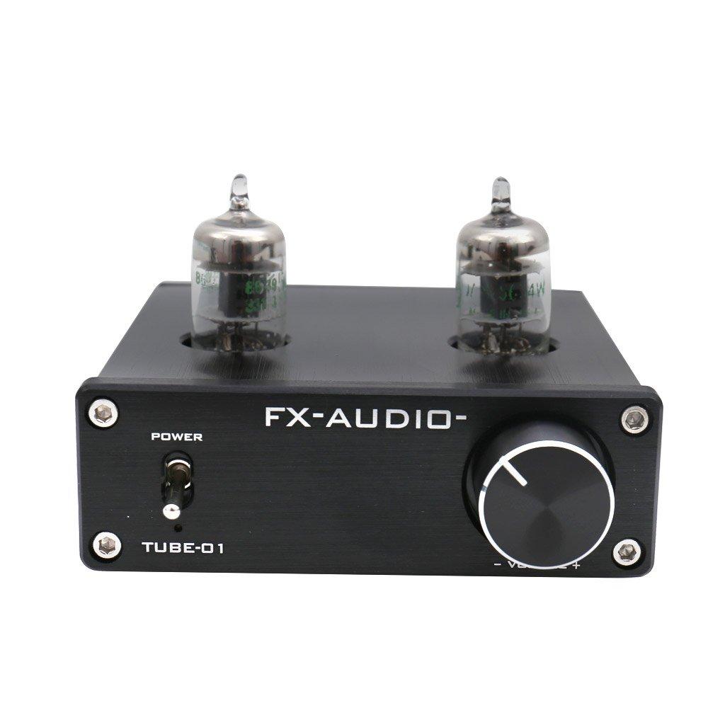 FX Audio TUBE-01 JAN 5654W Tube Buffer HIFI Preamplifier (TUBE-01S-BK) by FX Audio