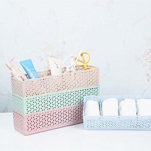 [해외]Leegor 5 셀 플라스틱 주최자 보관함 타이 브래지어 양말 서랍 화장품 분할자는 쌓아 올릴 수 있음 컨테이너/Leegor 5 Cells Plastic Organizer Storage Box Tie Bra Socks Drawer Cosmetic Divider Can be Stacked Container